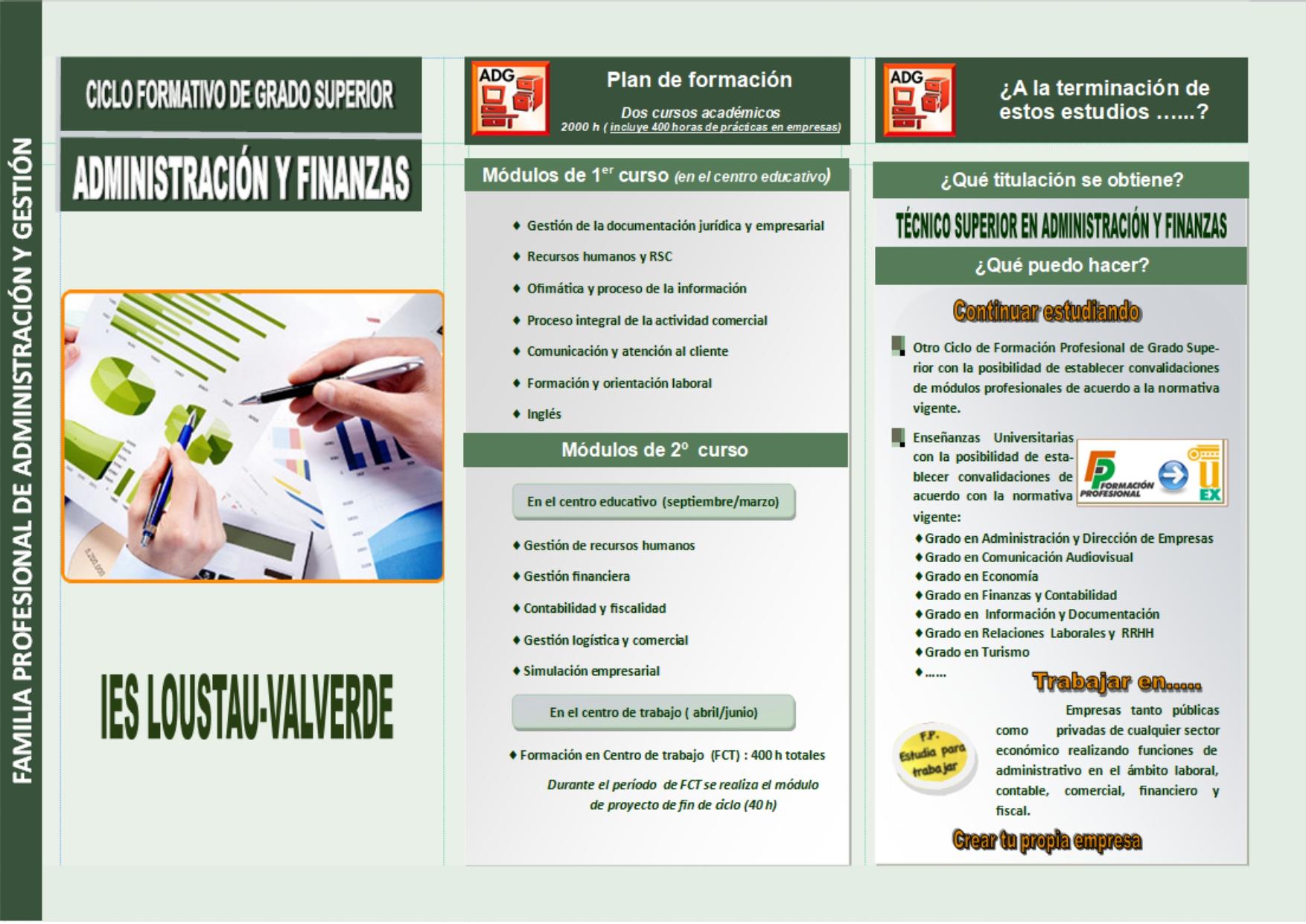 CFGS Administración y Finanzas
